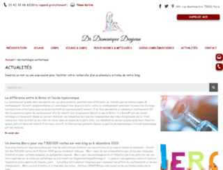 dermatologuemedecineesthetique.com screenshot