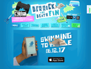 derrickthedeathfin.com screenshot
