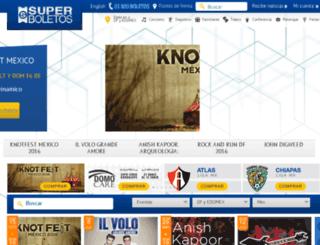 desarrollo.superboletos.com screenshot