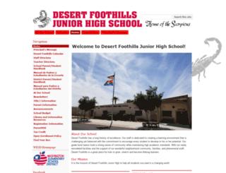 desertfoothills.wesdschools.org screenshot