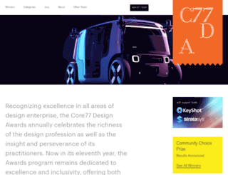 designawards.core77.com screenshot