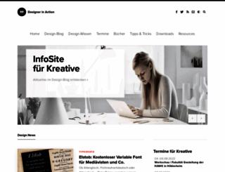 designerinaction.de screenshot