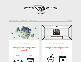 designersdebateclub.com screenshot