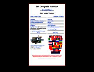 designersnotebook.com screenshot