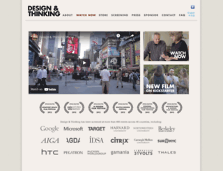 designthinkingmovie.com screenshot