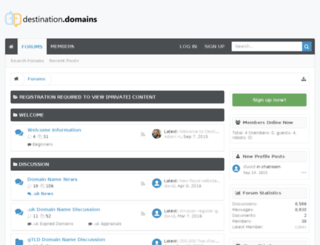 destination.domains screenshot