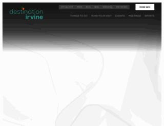 destinationirvine.com screenshot