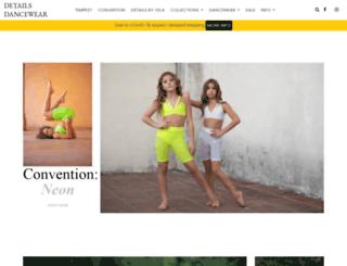 detailsdancewear.com screenshot
