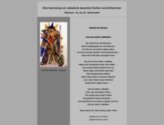 deutsche-liebeslyrik.de screenshot