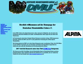 deutsche-mountainbike-union.de screenshot