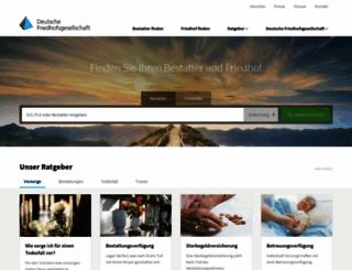deutschefriedhofsgesellschaft.de screenshot