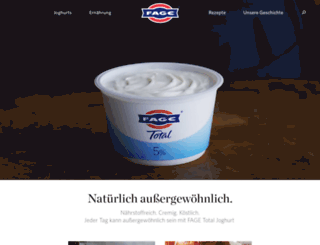 deutschland.fage.eu screenshot