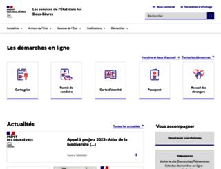deux-sevres.gouv.fr screenshot