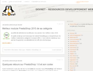 dev-net.fr screenshot