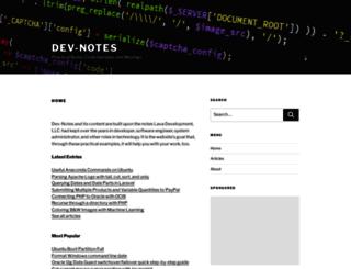 dev-notes.com screenshot