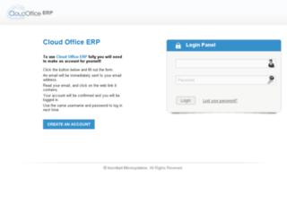 dev.cloudofficeerp.com screenshot