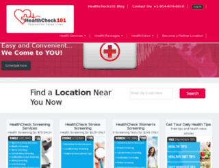 dev.healthcheck101.com screenshot
