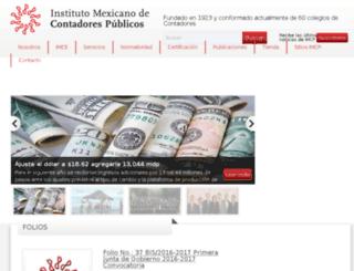 dev.imcp.org.mx screenshot