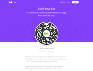 dev.kik.com screenshot