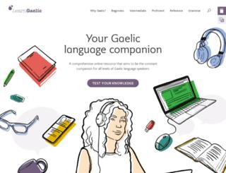 dev.learngaelic.net screenshot