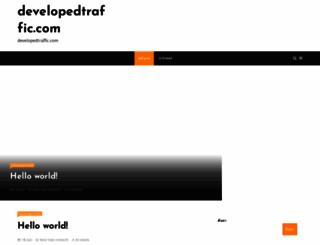 developedtraffic.com screenshot