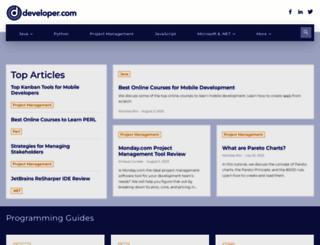 developer.com screenshot