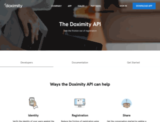 developer.doximity.com screenshot