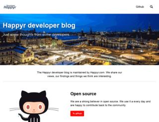 developer.happyr.com screenshot