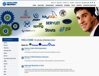developerhelpway.com screenshot