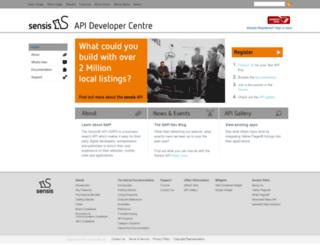 developers.sensis.com.au screenshot