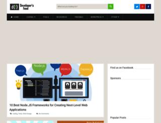developersfeed.com screenshot