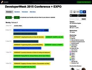 developerweek2015conferenceexpo.sched.org screenshot