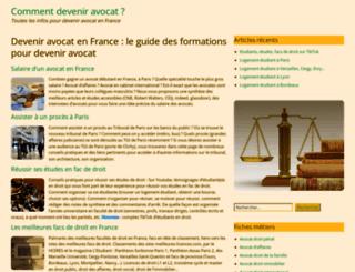 devenir-avocat.fr screenshot