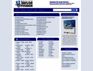 devicedriverfinder.com screenshot