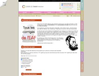 devoir-de-francais.com screenshot