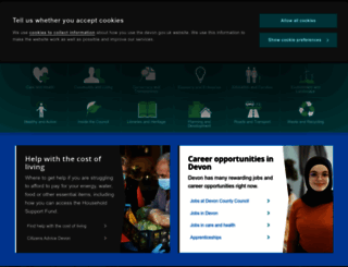 devon.gov.uk screenshot