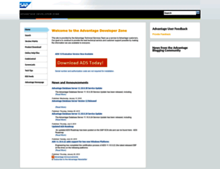 devzone.advantagedatabase.com screenshot