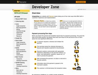 devzone.paylane.com screenshot
