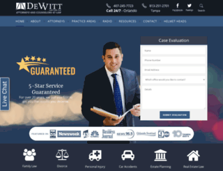 dewittlaw.com screenshot