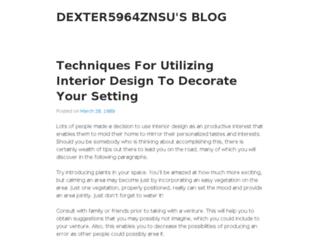 dexter5964znsu.wordpress.com screenshot