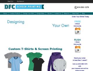 dfcscreenprinting.com screenshot