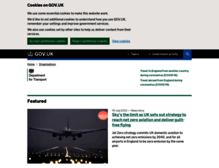 dft.gov.uk screenshot