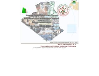 dgfp.gov.dz screenshot