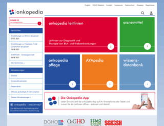 dgho-onkopedia.de screenshot
