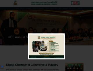 dhakachamber.com screenshot
