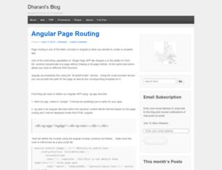dharanid.wordpress.com screenshot