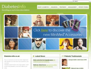 diabetes-info.co.uk screenshot