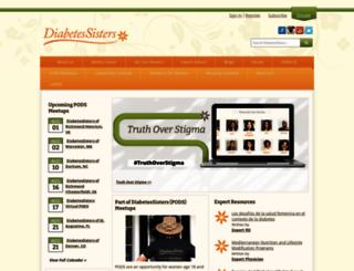 diabetessisters.org screenshot