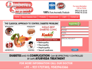 diabetessupport.co.in screenshot