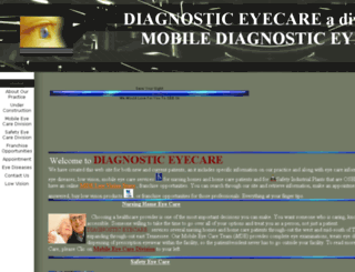 diagnosticeyecare.com screenshot
